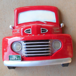 1948 Red Ford F-1 Pick Up Truck Wall Night Light